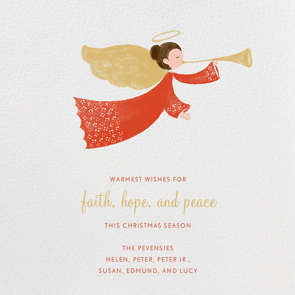 Herald Angel - Fair - Paperless Post - Holiday cards