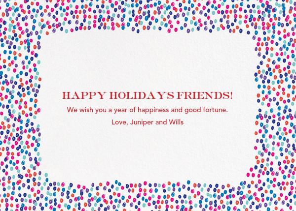 Life Is Good (Horizontal Photo) - Blue - Mr. Boddington's Studio - Holiday cards - card back