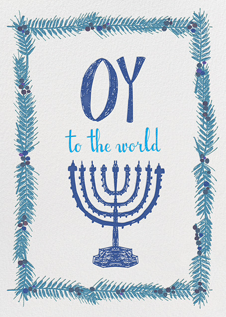 Oy to the World - Blue - Mr. Boddington's Studio - Hanukkah