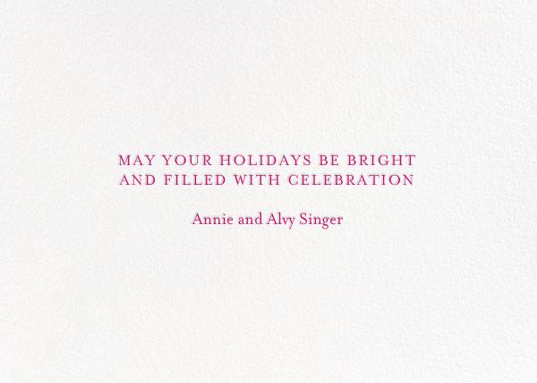 Light and Bright - Magenta - Mr. Boddington's Studio - Hanukkah - card back