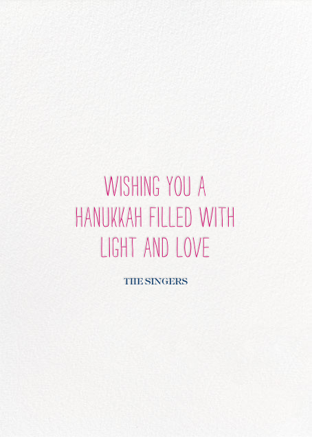 Oy to the World - Pink - Mr. Boddington's Studio - Hanukkah - card back