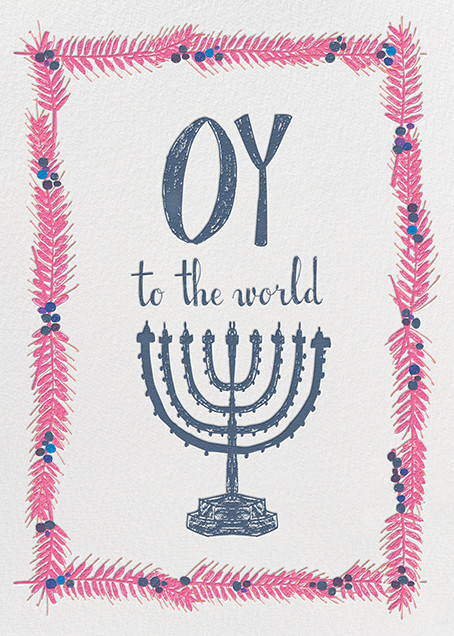 Oy to the World - Pink - Mr. Boddington's Studio - Hanukkah