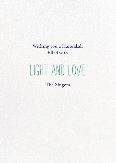 Where Are the Matches - Teal - Mr. Boddington's Studio - Hanukkah - card back