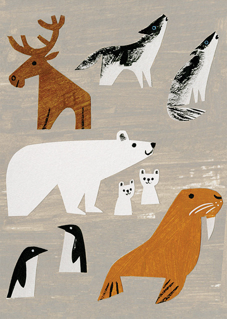 Winter Animals (Christian Robinson) - Red Cap Cards - Holiday cards