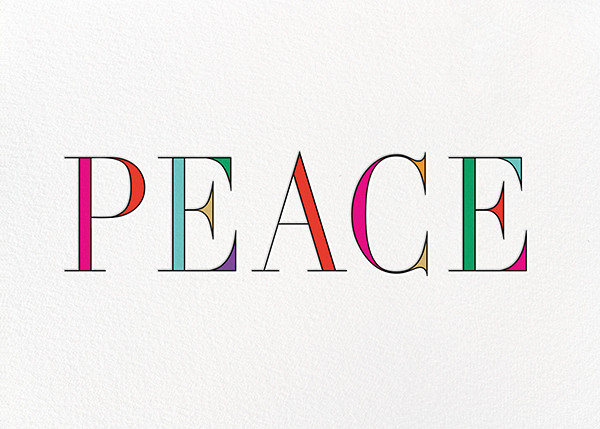 Rainbow Peace - kate spade new york - Holiday cards
