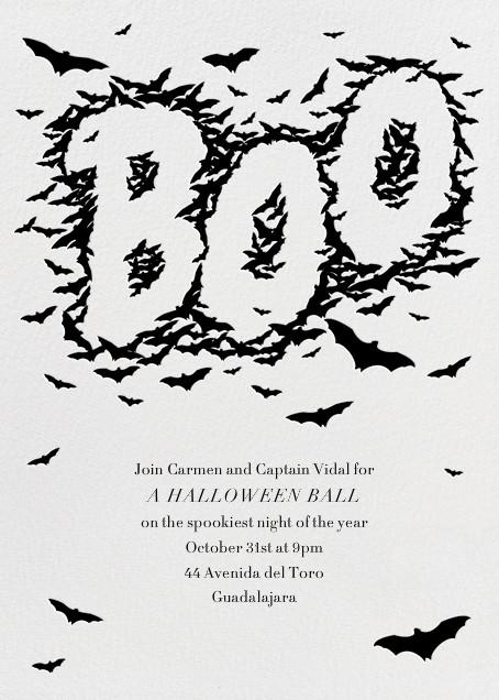 Bats Say Boo - Paperless Post - Halloween