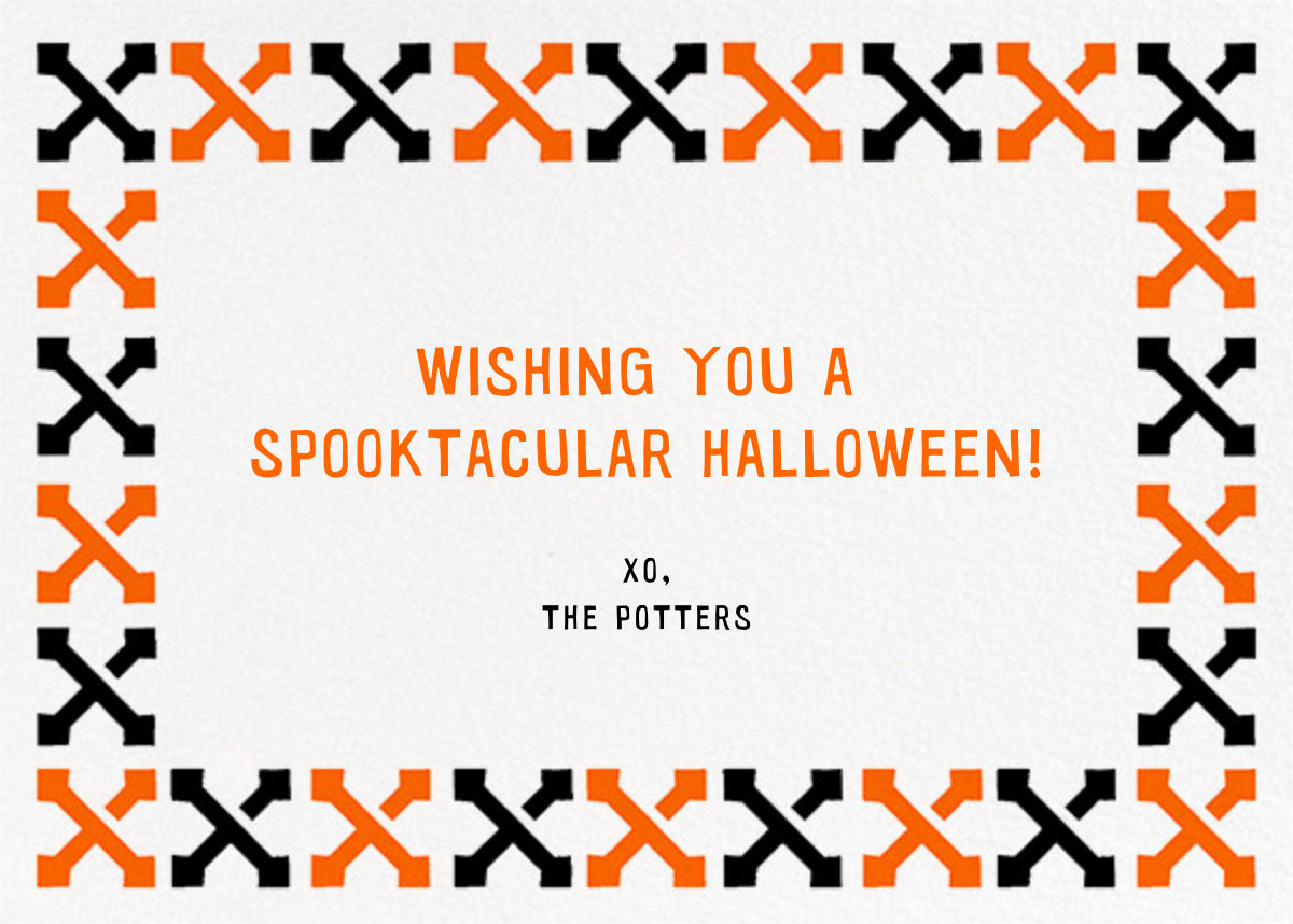 Tricks and Treats (Photo) - Paperless Post - Halloween - card back