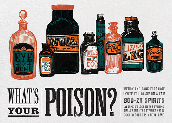 What's Your Poison - Paperless Post - Halloween