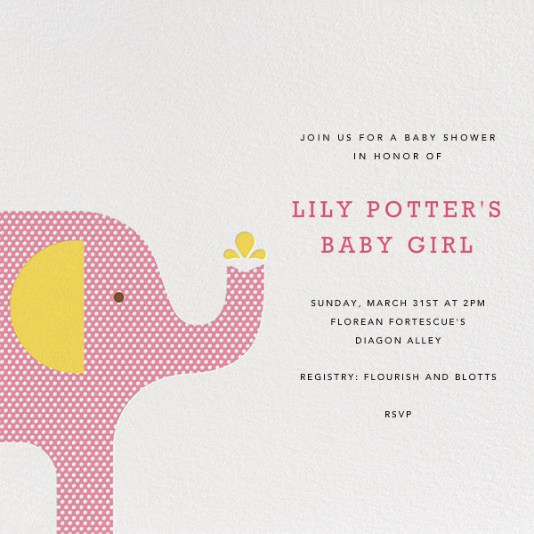 Modern Elephant - Pink - Petit Collage - Baby shower