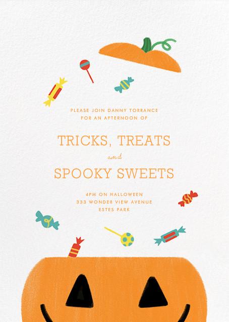 Candy Bucket - White - Paperless Post - Halloween