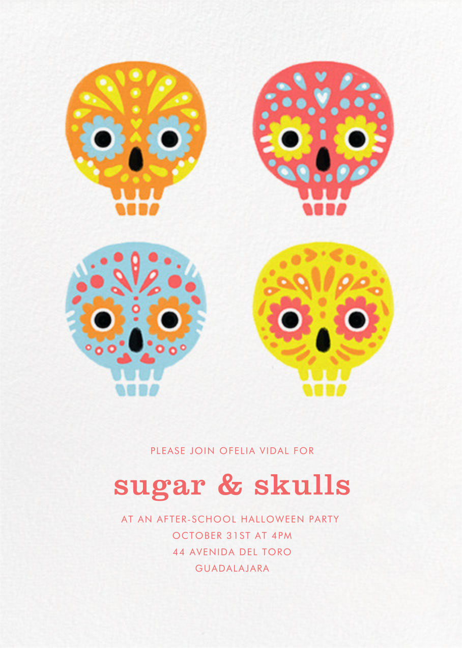 Little Sugar Skulls - Paperless Post - Halloween