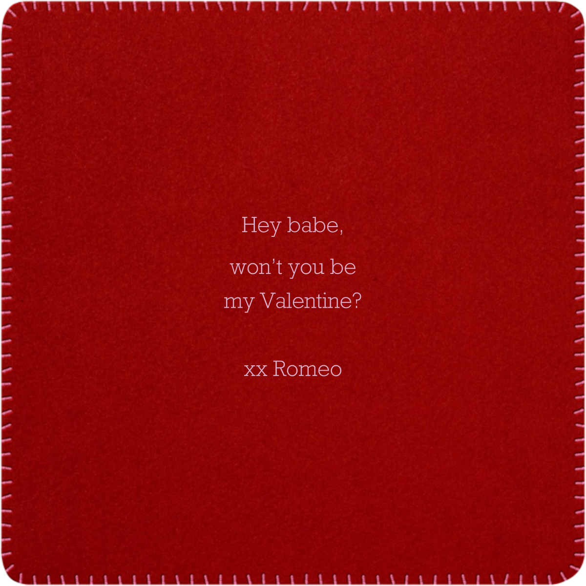 Be My Valentine - Paperless Post - Valentine's Day - card back