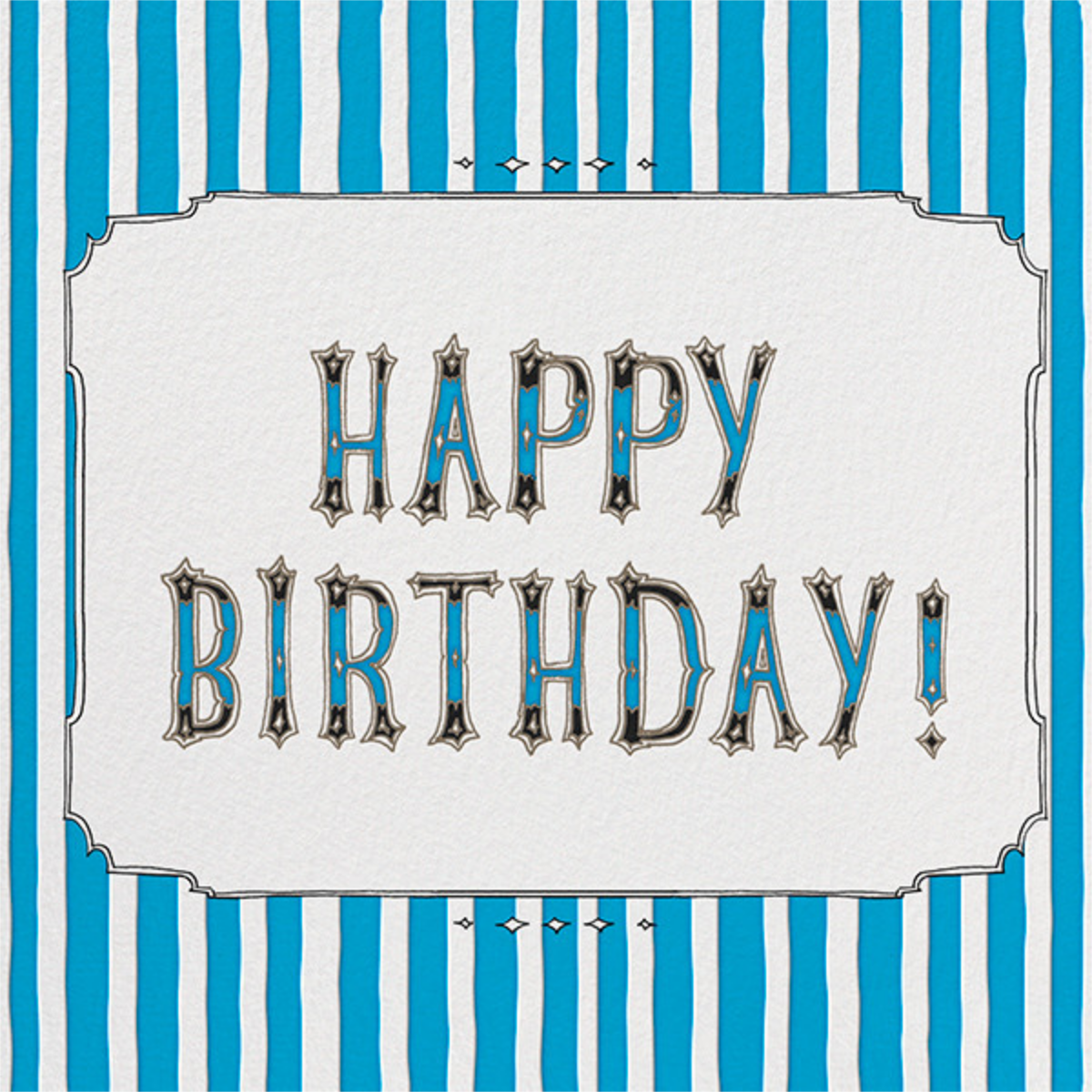 Cirque (Happy Birthday) - Blue - Paperless Post