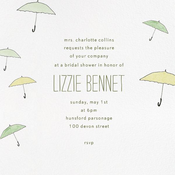 Umbrellas - Green - Paperless Post - Bridal shower