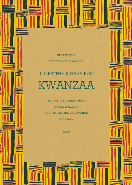 Kente - Paperless Post - Kwanzaa