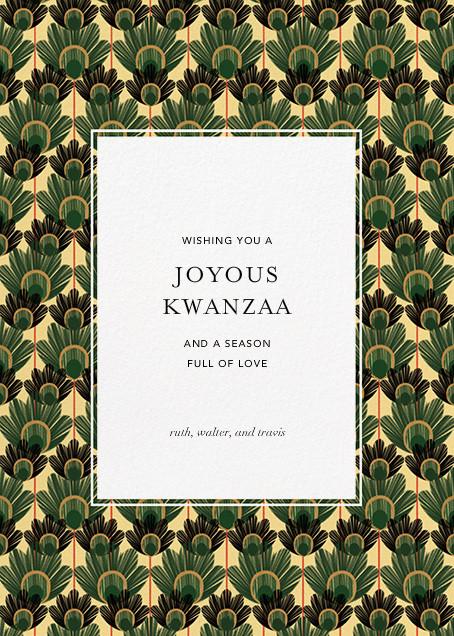 Mbulu Feathers - Green - Paperless Post - Kwanzaa