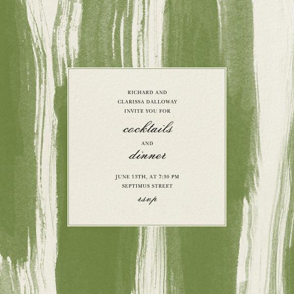 Watercolor - Green - Oscar de la Renta - Cocktail party