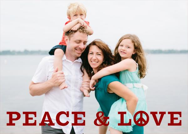 Peace and Love - Crimson - Jonathan Adler - Holiday cards