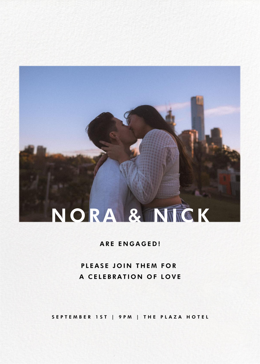 Horizontal Photo on Tall - Paperless Post - Engagement party