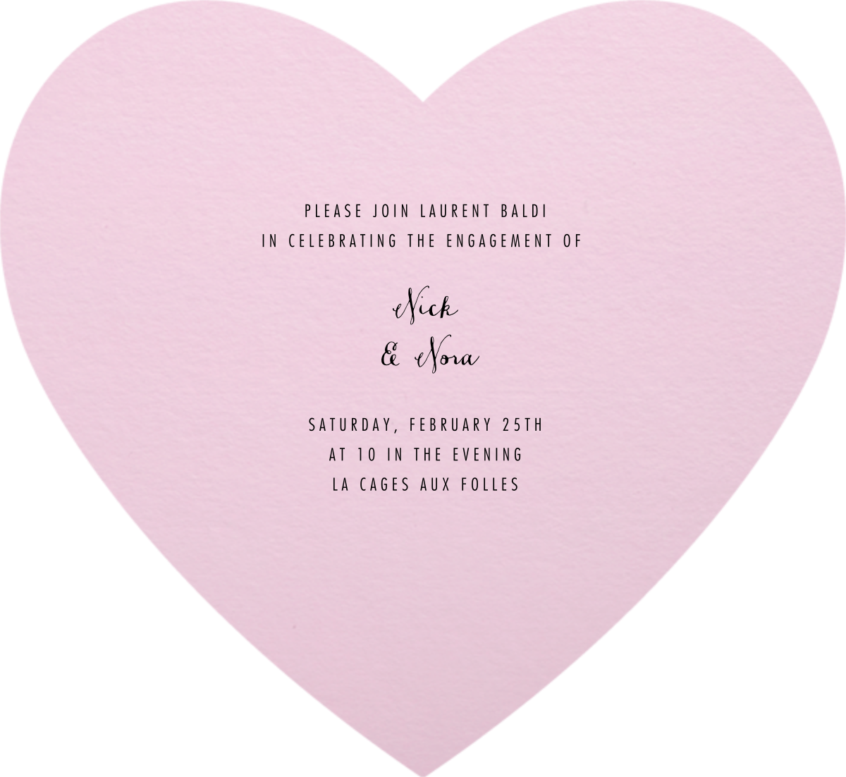 Full Bleed Heart (Pink) - Paperless Post - Engagement party - card back