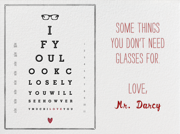 Eye Chart - Mr. Boddington's Studio - Valentine's Day