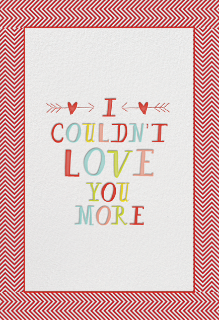 I Couldn't Love You More - Mr. Boddington's Studio - Valentine's Day