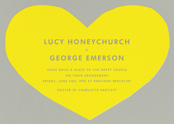 Heart - Yellow Gray - The Indigo Bunting - Engagement party