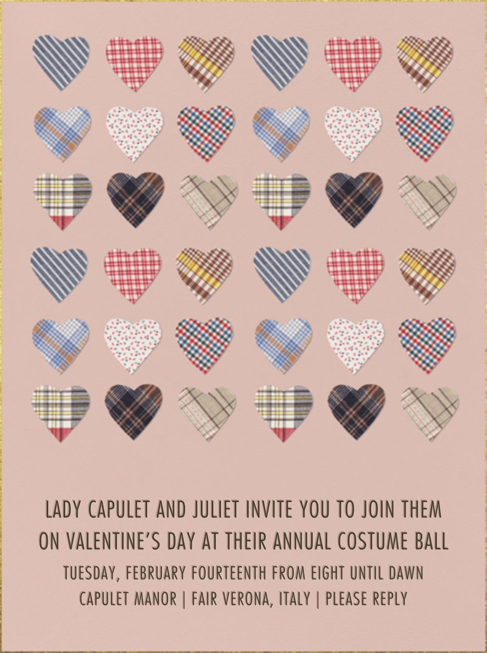 Plaid Hearts - Paperless Post - Valentine's Day