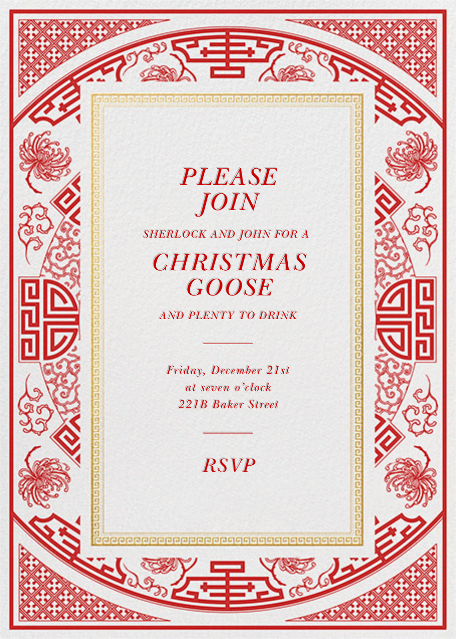 Fine China - Paperless Post - Christmas party