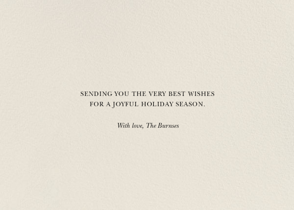 Happy Howlidays - Gold - Derek Blasberg - Holiday cards - card back
