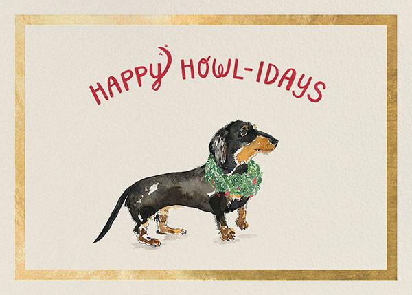 Happy Howlidays - Gold - Derek Blasberg - Holiday cards
