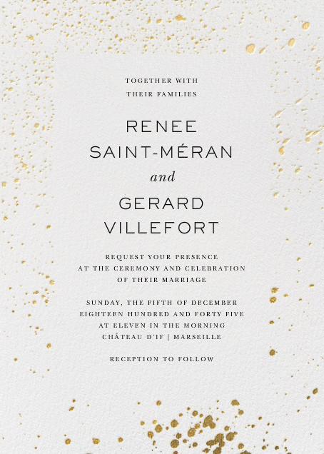Splatter Cloth II - Gold - Paperless Post - All