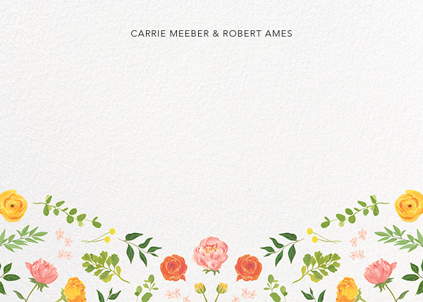 Fleurs d'Eté (Stationery) - Paperless Post - Personalized stationery