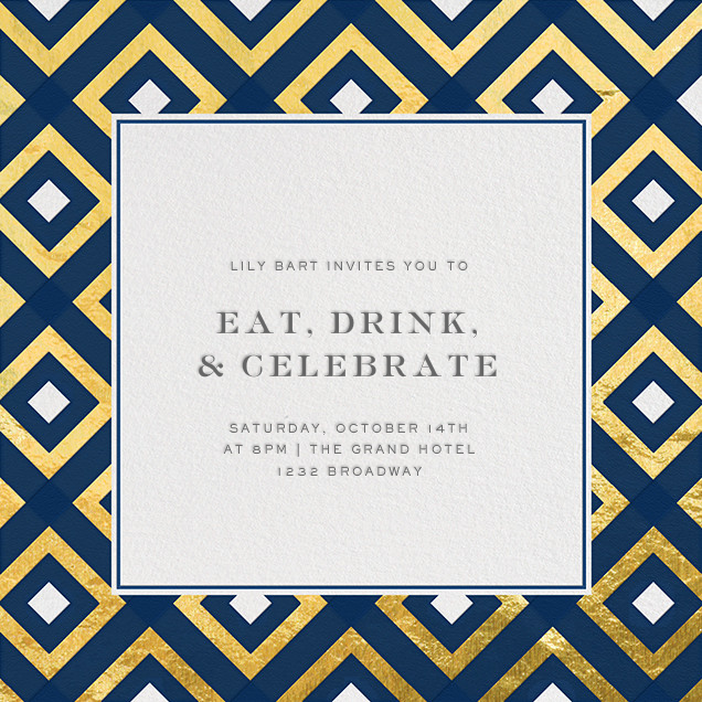 Bobo - Navy and Gold - Jonathan Adler - Cocktail party