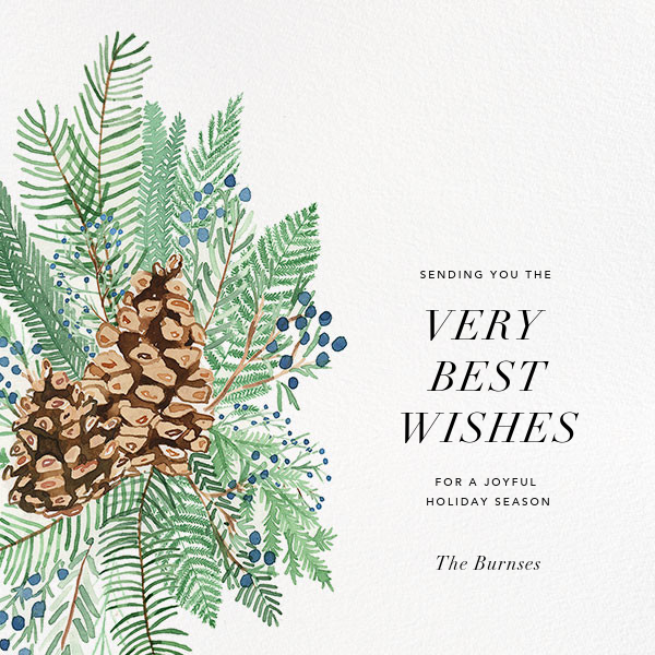Juniper and Pine - Paperless Post - Holiday cards