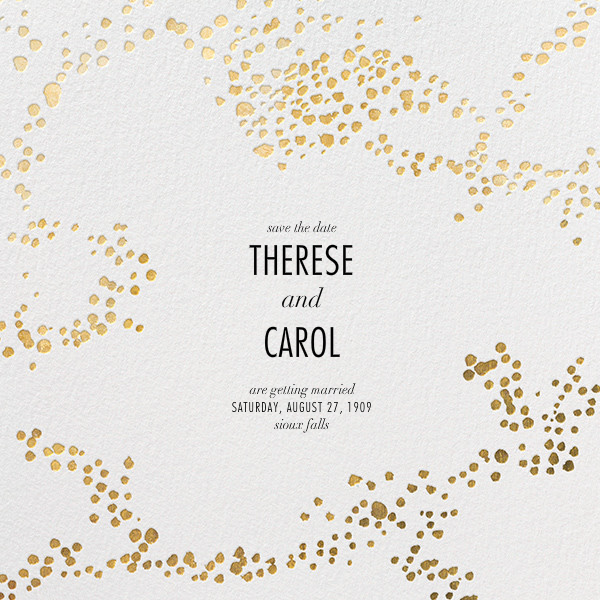 Evoke (Save the Date) - White/Gold - Kelly Wearstler - Save the date