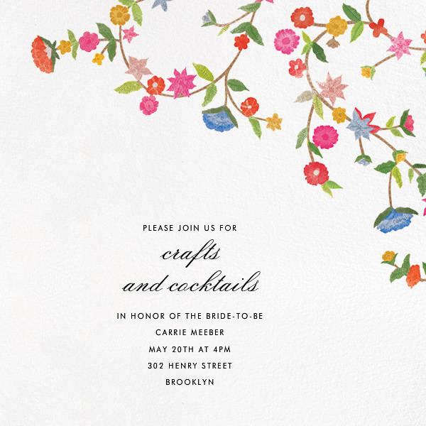 Stitched Floral II - Save The Date  - Oscar de la Renta - Bridal shower