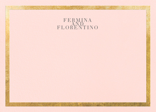 Editorial II (Stationery) - Meringue/Gold - Paperless Post - Personalized stationery