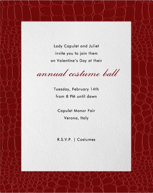 Croc Border - Crimson - Paperless Post - Valentine's Day