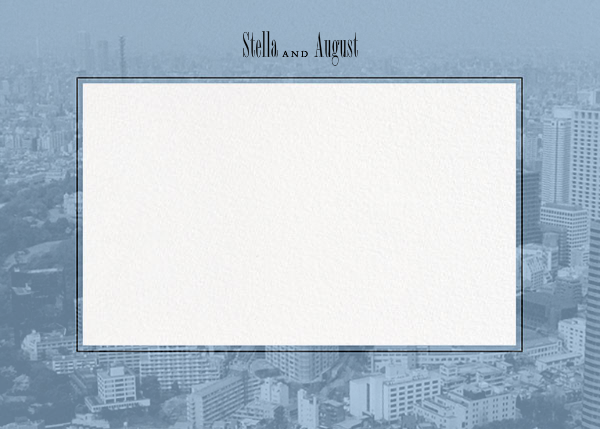 City Panoramic (Stationery) - Spring Rain - Paperless Post - Personalized stationery