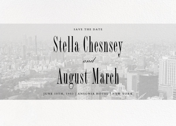 City Panoramic (Save the Date) - White - Paperless Post - Destination