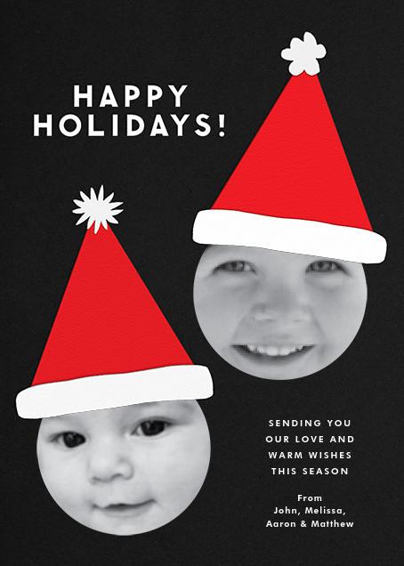 Santa Hat - Double Photo - The Indigo Bunting