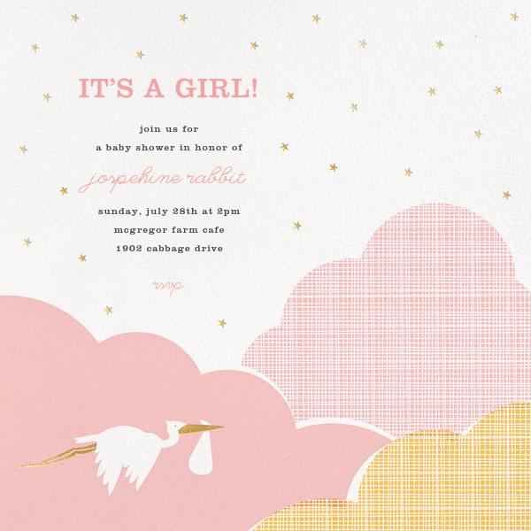 Fly by Night - Pink - Hello!Lucky - Baby shower