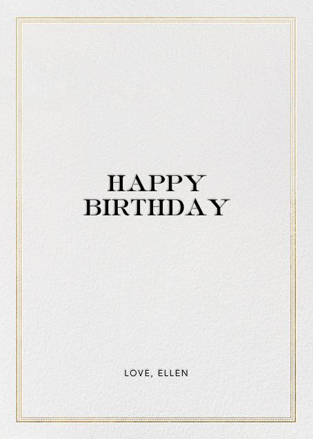 Dear Friend Gold Birthday Card - Hello!Lucky - Back