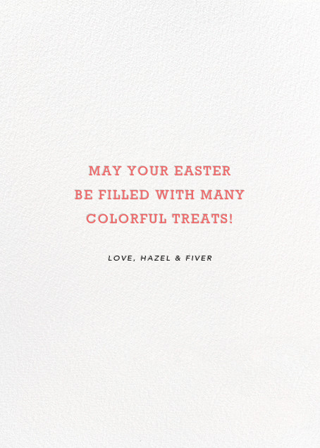 Easter Basket - Hello!Lucky - Easter - card back