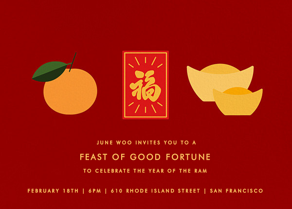 Lucky Fortunes - Paperless Post - Lunar New Year