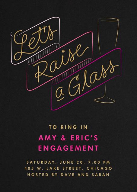 Let's Raise A Glass - Crate & Barrel - Engagement party