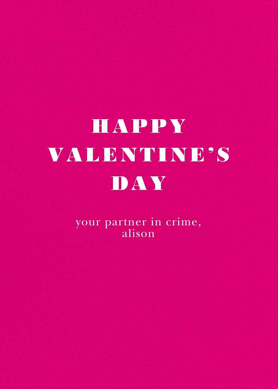 Love Thy Neighbor - kate spade new york - Flirty valentines - card back