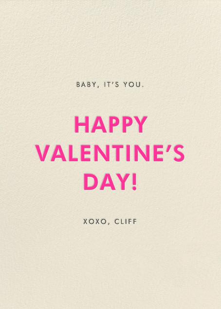 Deep Love - Hello!Lucky - Valentine's Day - card back