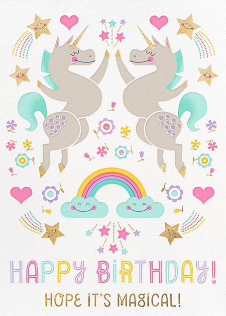Unicorn High Five (Greeting) - Hello!Lucky - Birthday